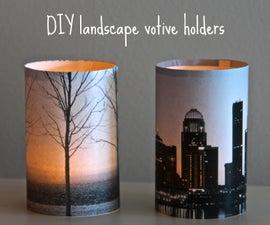 DIY landscape votive holders