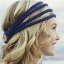 Simple cute crochet headband with video hair-styling tutorials