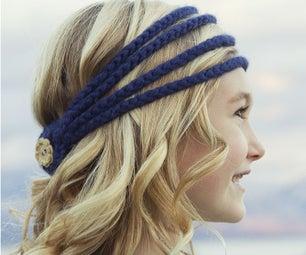Simple Cute Crochet Headband With Video Hair-styling Tutorials