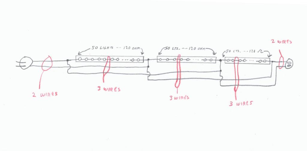 wiring 3 wire christmas lights  schematic wiring diagram