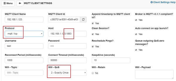 Picture of Test the Mosquitto MQTT Broker