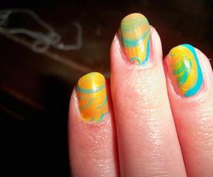 Tie-Dye Your Fingernails