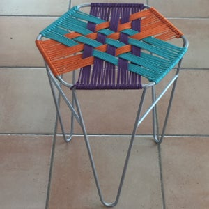 Woven Graphic Stool
