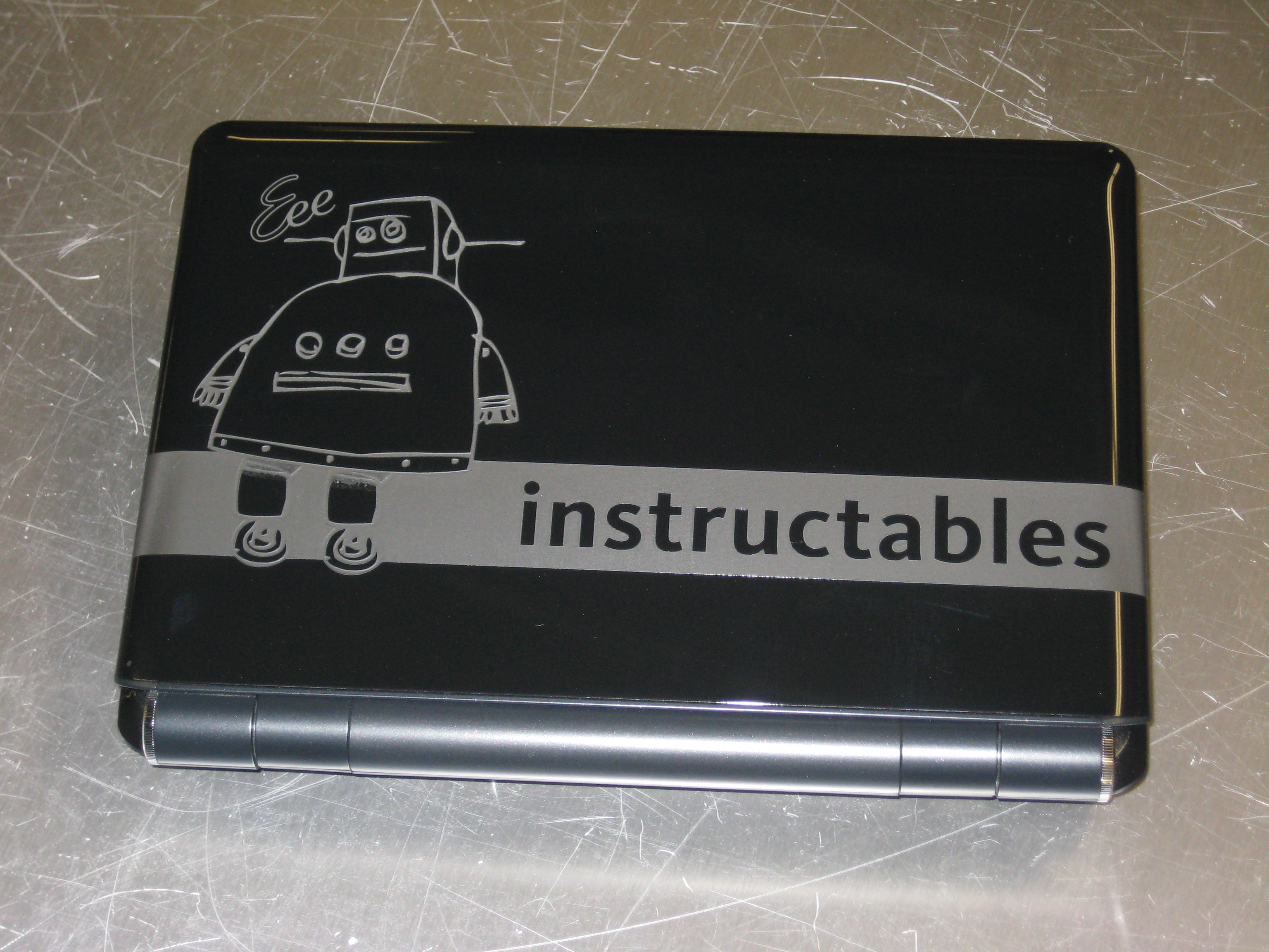Picture of Instructable Robot etched onto ASUS EeePC