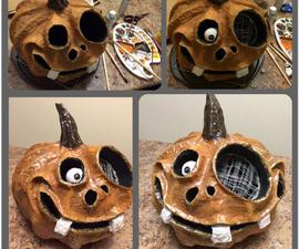 Halloween Paper-Mache Pumpkins