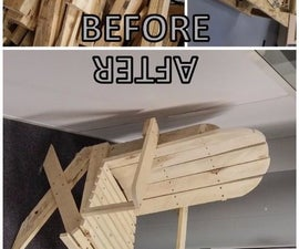 Armchair upcycled from pallets