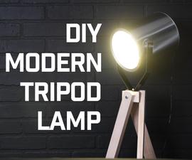 DIY Modern Tripod Floor Lamp