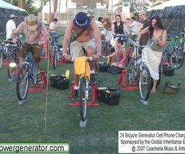 440 Watt Regulated Pedal Power Bicyle Generator for iPod, Cell Phone, Portable TV or DVD player