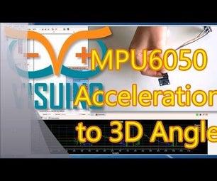 Arduino Nano and Visuino: Convert Acceleration to Angle From Accelerometer and Gyroscope MPU6050 I2C Sensor