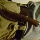 Vintage Saw Blade Knife With Leather Sheath