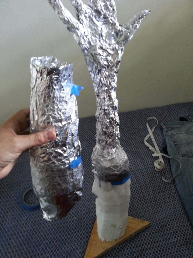 Picture of Now Make a Double or Triple Layer Copy of Your Arm Using Aluminium Paper
