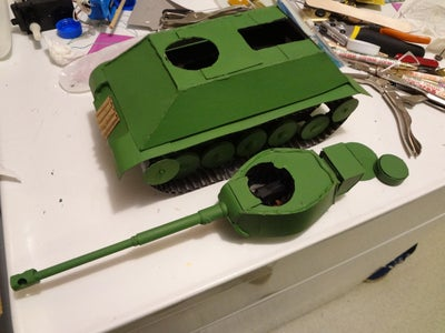 Painting Turret & Finishing Up Details in Interior of It & the Tank.
