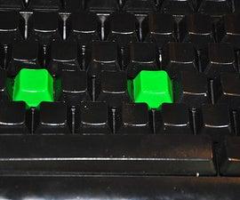 Cheap-o Spray Paint Custom Keyboard