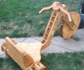 "Wooden Big Wheel Aka ""Wooden Wheels of Freedom"""