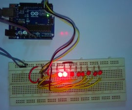 Extend the ports of Arduino using IC 74HC595N