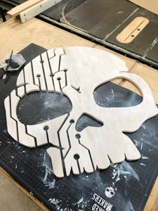 Whitewash Staining the Front Layer of the Skull