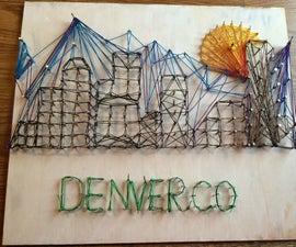 Denver City String Art
