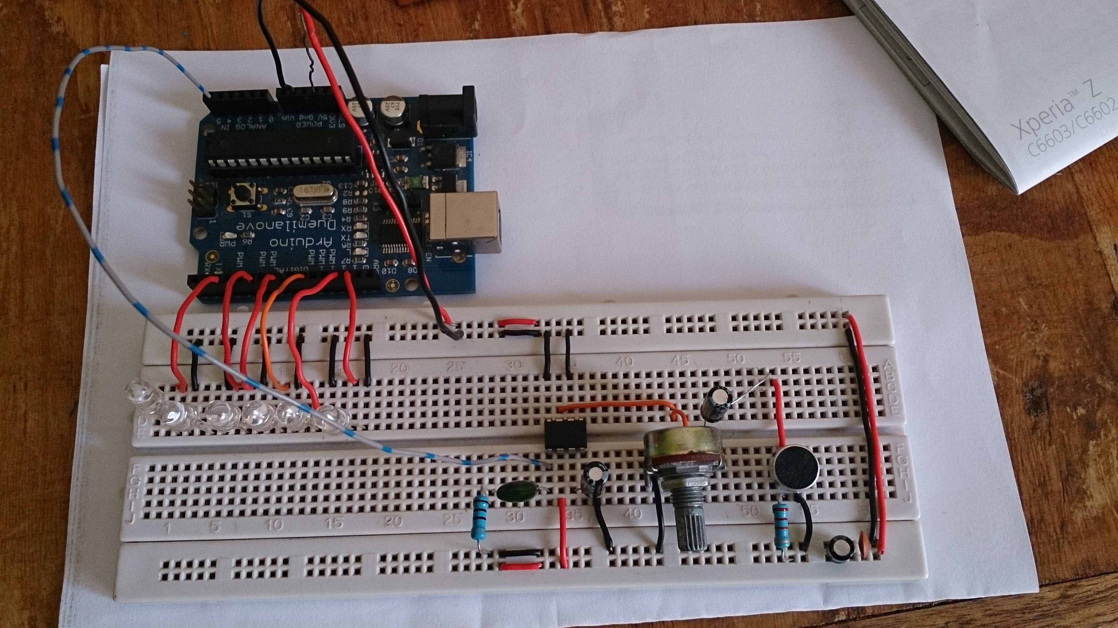 Picture of Arduino VU Meter