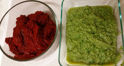 Picture of  Finalizing Veggie Pesto #1 and #2