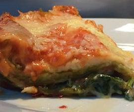 Quick spinach Lasagna microwave