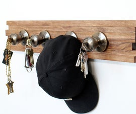 Doorknob key rack