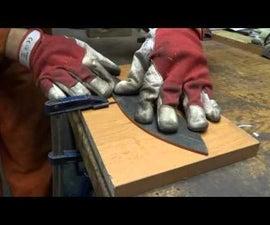 Making a knife, step by step