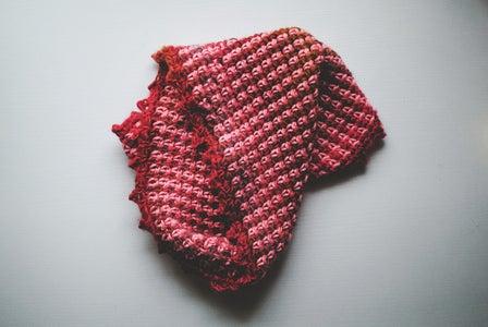 Florecita Cowl, Woven Stitch Cowl