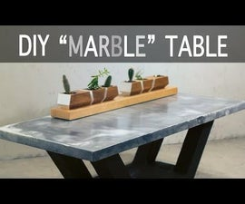 """Make a """"Marble"""" Table From Concrete"""