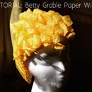 TUTORIAL: Betty Grable Paper Wig