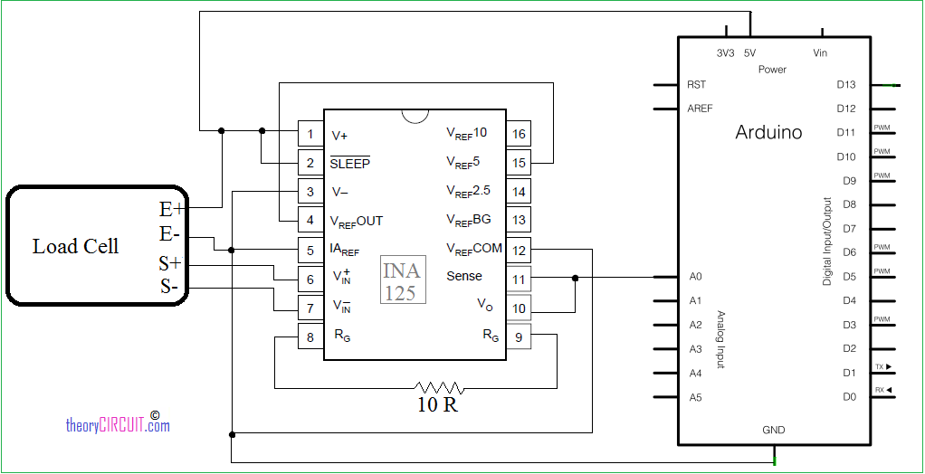 Picture of Load Cell Interfacing Schematic