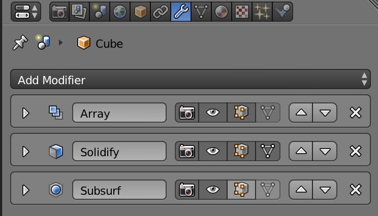 Picture of Solidify the Shape, Apply the Array and Solidify Modifiers