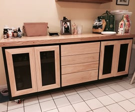 Kitchen Cabinet Island / Shelving Storage on Wheels