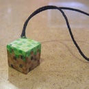 Minecraft grass phone charm