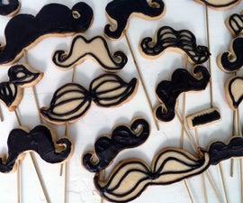 Mustache Cookie Pops