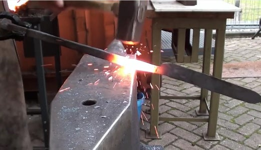 Forging the New Bar Into 3 Sections
