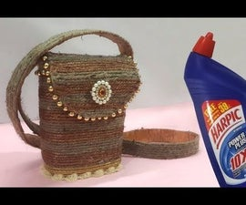 Handmade Jute Rope Bag From Unused Plastic Bottle