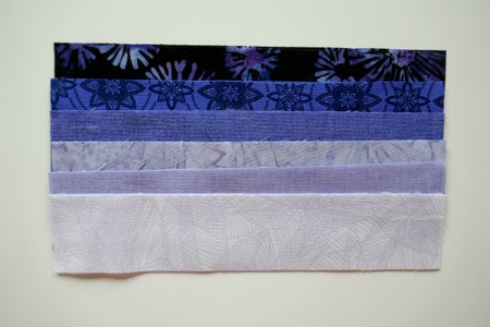 Cut Fabric, Batting and Lining Pieces