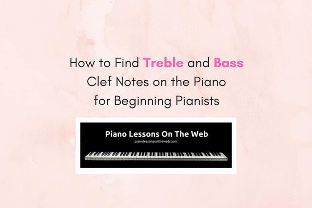 Picture of How to Find Treble and Bass Clef Notes on the Piano for Beginning Pianists