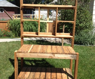 Recycled Garden Potting Bench