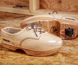 Pallet Wood Clog Work Boots (with a Wheel in the Heel!)