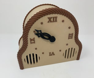 3D Printed Mantel Style Auto Correcting Clock With Chimes and Daylight Savings Time
