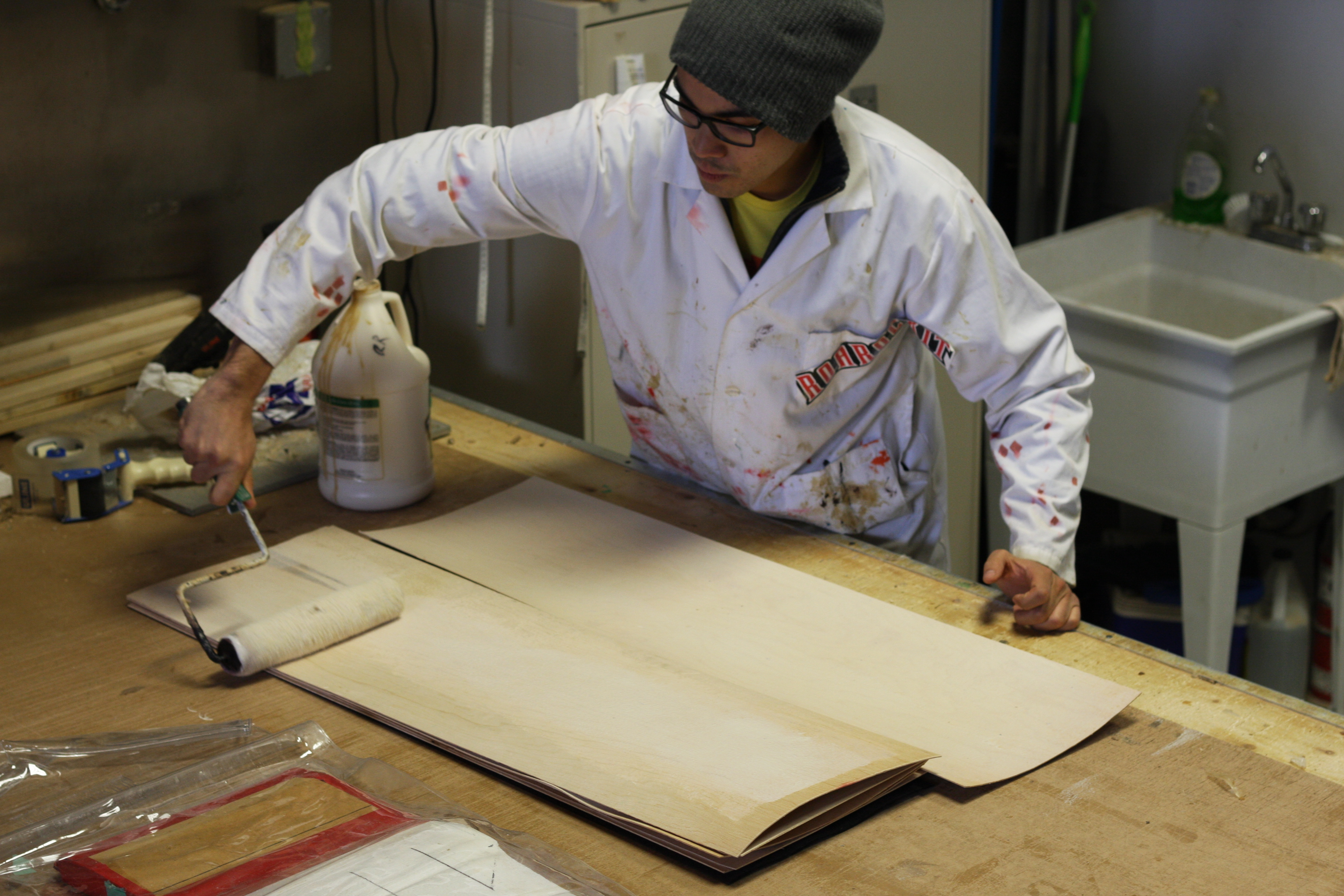 Picture of Pressing the Board