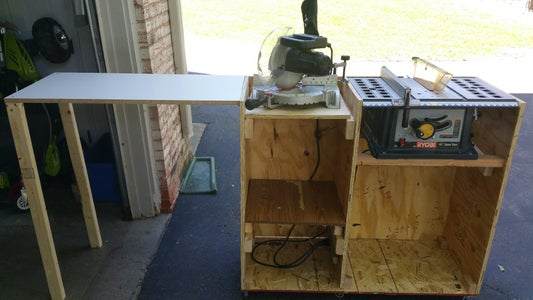 Miter Saw in Use