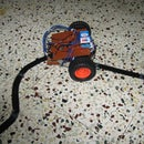 Home made line tracer robot