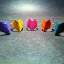 how to make a paper heart ring