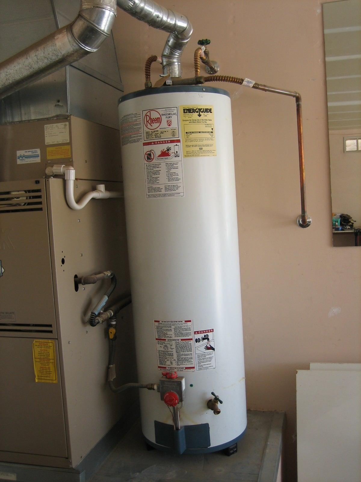 water under water heater
