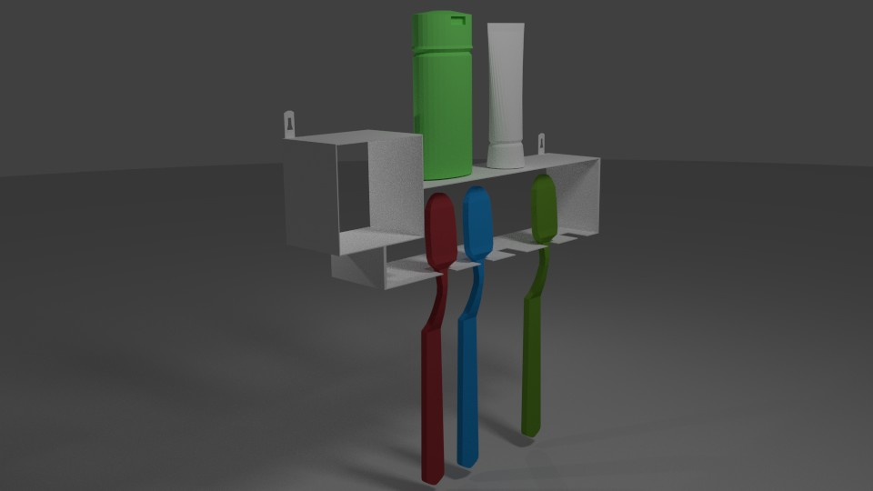 Picture of 3D Model Stand Toothbrush