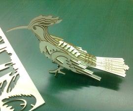 Cut a 3D Bird With Laser Cutter