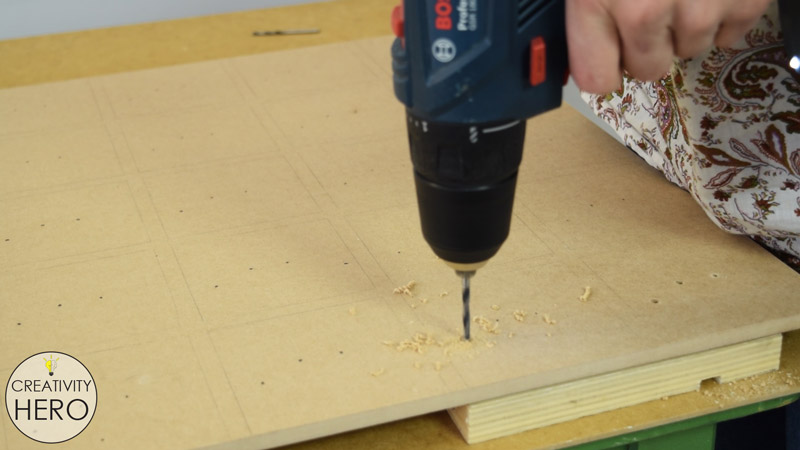 Picture of Making Holes Into the MDF Board for All the Electronic Parts.