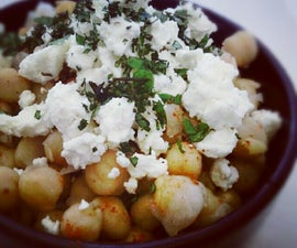 Spicy Chickpeas with Feta and Oregano